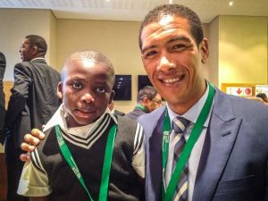 Banele and Ashwin Willemse